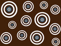 White, brown and blue targets on brown background Royalty Free Stock Photography