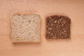 White and brown bread slices of wholemeal Royalty Free Stock Photography