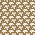 White on brown turtle geometric pattern seamless repeat background
