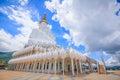 The white buddha statues at Wat Pha Sorn Kaew Temple