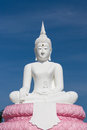 White Buddhaand sky blue Royalty Free Stock Images