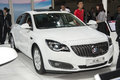 White buick regal gs car new in the th zhengzhou dahe spring international auto show take from zhengzhou henan china Royalty Free Stock Images