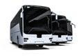 White bus fleet Royalty Free Stock Photo