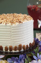 White cake with toasted cocunut topping this is a icing coconut Stock Photography