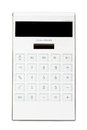 White calculator isolate on white Stock Photography