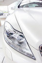 White car is a bright showroom Royalty Free Stock Images