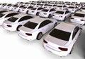White car fleet Royalty Free Stock Photo