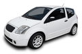 White car small isolated on background Stock Photography