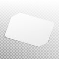 White Card isolated on transparent background. EPS 10 vector