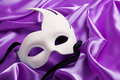 White carnival mask Stock Images