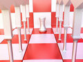 White Castle in Chess Hall Royalty Free Stock Image