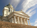 White cathedral of Helsinki Royalty Free Stock Photo