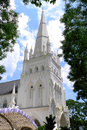 White cathedral the saint andrew s is an anglican in singapore the country s largest it is located near city hall Royalty Free Stock Photos