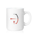 White ceramic mug with fuel meter isolated on a with clipping work path Royalty Free Stock Image
