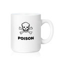 White ceramic mug with poison sign on a idea about don t touch my with clipping work path Stock Photos