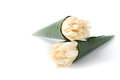 White champaka flower in babana leaf on background Royalty Free Stock Photography