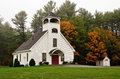 White chapel in New England Stock Image