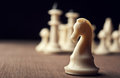 White chess knight Royalty Free Stock Images
