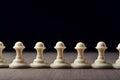White chess pawns Royalty Free Stock Photo