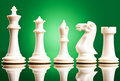 White chess pieces Royalty Free Stock Photography