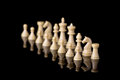 White chessman army Royalty Free Stock Photo