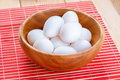 White chicken eggs Stock Photography