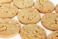 White Chocolate Chip Cookies Royalty Free Stock Photos