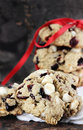 White Chocolate Chip and Cranberry Cookies Stock Photography