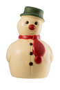 White chocolate snowman christmas decoration made of Royalty Free Stock Photos