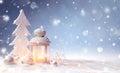 White Christmas Decoration Wit...