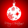White christmas decoration on red background with vivid color Royalty Free Stock Photography