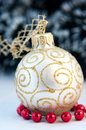 White Christmas decoration sitting Stock Photos