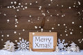 White Christmas Decoration Text Merry Xmas, Snow, Snowflakes