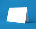 White christmas greeting card on the blue background blank Stock Photography