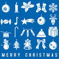 White Christmas Icons Royalty Free Stock Photo