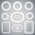 White Christmas Illumination Frames