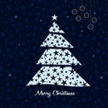 White Christmas tree background. Vector. Royalty Free Stock Image