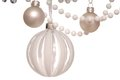 White christmas tree balls and beads Stock Photography
