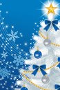 White christmas tree close up deep blue eps this illustration contains transparency effect on color back ground Stock Photography