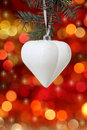 White Christmas tree decoration Stock Image
