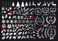 White Christmas, vector set Royalty Free Stock Photo