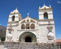 White church in the Colca Canyon Royalty Free Stock Photo
