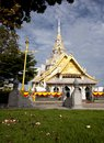 White church in Thai temple Royalty Free Stock Photo