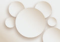 White circles with dashed lines Royalty Free Stock Photo
