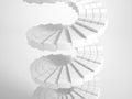 White circular stairway Royalty Free Stock Photo