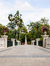 White classical bridge Royalty Free Stock Photo