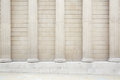 White classical columns and wall background Royalty Free Stock Photo