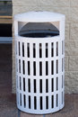 White and clean litter bin Stock Photos
