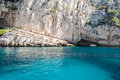 The white cliff of the Calanques near Cassis (Provence, France) Royalty Free Stock Photo