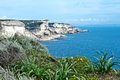 White cliffs of bonifacio corsica beautiful limestone Royalty Free Stock Photo